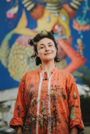 Danaé Brissonnet muraliste
